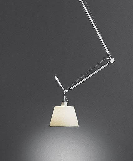 TOLOMEO DECENTRATA SUSPENSION DIFFUSORE PERGAMENA 360 MM SOSPENSIONE ARTEMIDE